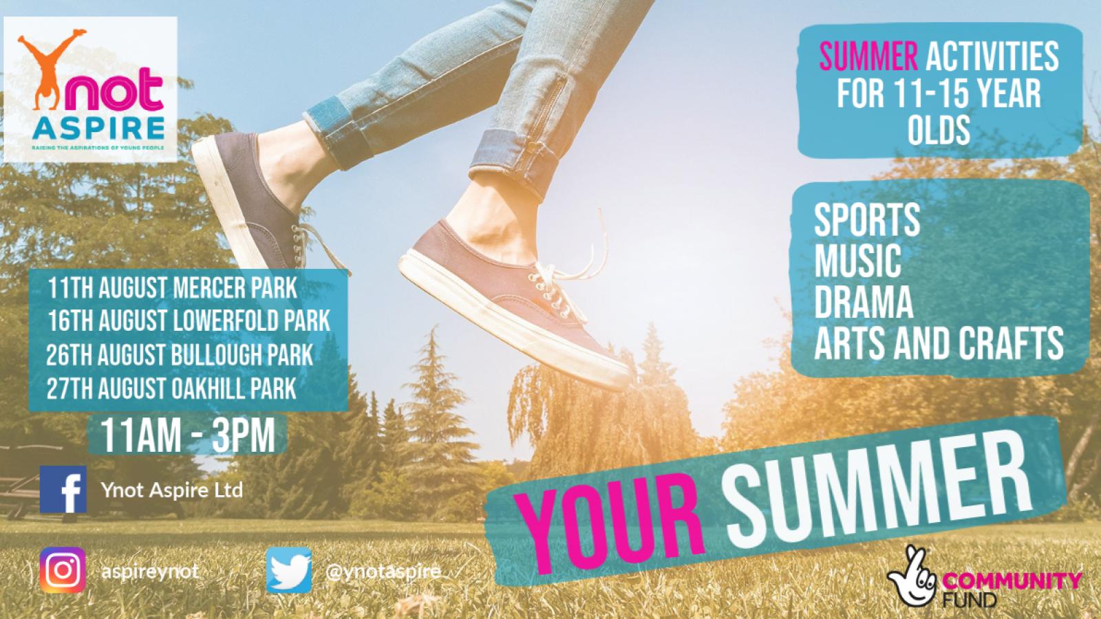 Summer activities poster